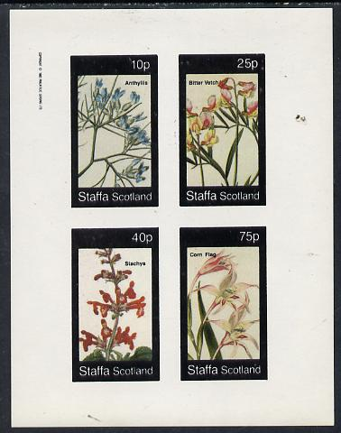 Staffa 1982 Flowers #04 (Anthyllis, Corn Flag etc) imperf  set of 4 values (10p to 75p) unmounted mint