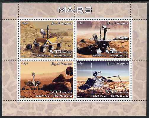 Somalia 2005 Mars perf sheetlet containing 4 values unmounted mint