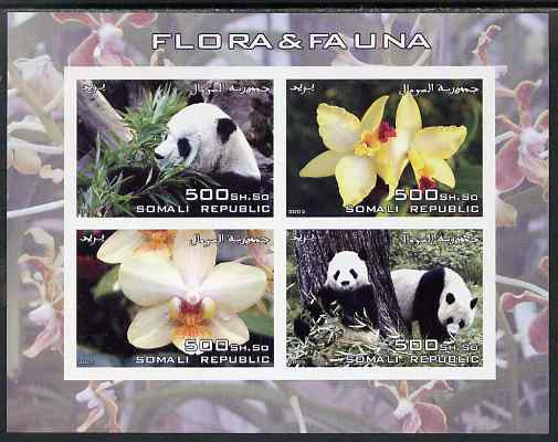 Somalia 2005 Flora & Fauna imperf sheetlet containing 4 values unmounted mint