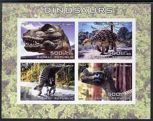 Somalia 2005 Dinosaurs imperf sheetlet containing 4 values unmounted mint