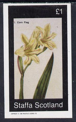 Staffa 1982 Flowers #04 (Corn Flag) imperf souvenir sheet (�1 value) unmounted mint