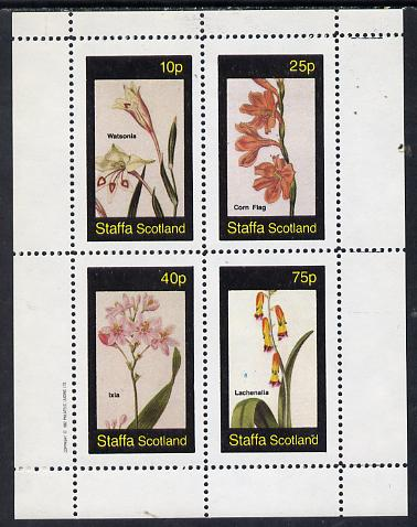 Staffa 1982 Flowers #06 (Watsonia, Corn Flag etc) perf  set of 4 values (10p to 75p) unmounted mint