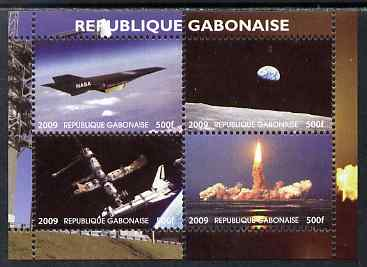 Gabon 2009 NASA Space Exploration #01 perf sheetlet containing 4 values unmounted mint. Note this item is privately produced and is offered purely on its thematic appeal