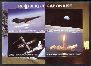 Gabon 2009 NASA Space Exploration #01 imperf sheetlet containing 4 values unmounted mint. Note this item is privately produced and is offered purely on its thematic appeal
