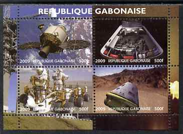 Gabon 2009 NASA Space Exploration #02 perf sheetlet containing 4 values unmounted mint. Note this item is privately produced and is offered purely on its thematic appeal