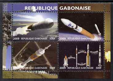 Gabon 2009 NASA Space Exploration #03 perf sheetlet containing 4 values unmounted mint. Note this item is privately produced and is offered purely on its thematic appeal