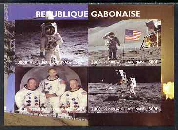 Gabon 2009 NASA Space Exploration #04 imperf sheetlet containing 4 values unmounted mint. Note this item is privately produced and is offered purely on its thematic appeal