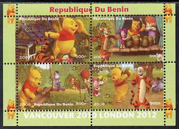 Benin 2009 Olympic Games - Disney's Winnie the Pooh #02 perf sheetlet containing 4 values unmounted mint. Note this item is privately produced and is offered purely on its thematic appeal