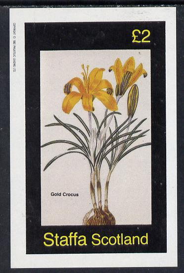 Staffa 1982 Flowers #06 (Gold Crocus) imperf deluxe sheet (\A32 value) unmounted mint