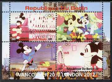 Benin 2009 Olympic Games - Disney Characters #02 perf sheetlet containing 4 values unmounted mint. Note this item is privately produced and is offered purely on its thematic appeal