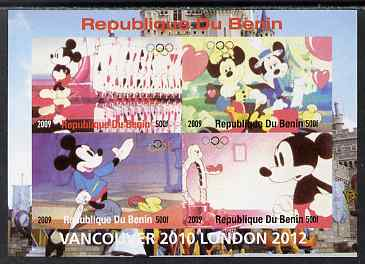 Benin 2009 Olympic Games - Disney Characters #02 imperf sheetlet containing 4 values unmounted mint. Note this item is privately produced and is offered purely on its thematic appeal