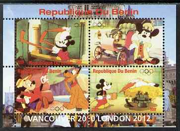 Benin 2009 Olympic Games - Disney Characters #03 perf sheetlet containing 4 values unmounted mint. Note this item is privately produced and is offered purely on its thematic appeal