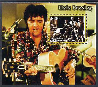 Benin 2006 Elvis Presley #2 (wearing coloured shirt) perf souvenir sheet unmounted mint