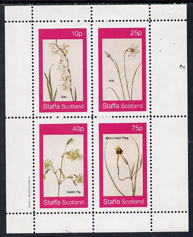 Staffa 1982 Flowers #07 (Ixia, Flag etc) perf  set of 4 values (10p to 75p) unmounted mint
