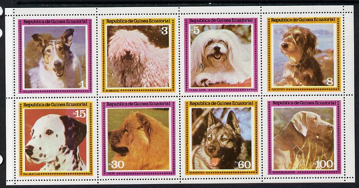 Equatorial Guinea 1978 Dogs set of 8 unmounted mint (Mi 1427-34A)
