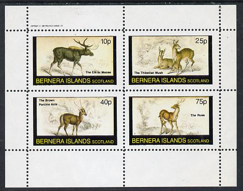 Bernera 1982 Animals (Elk, Axis etc) perf  set of 4 values (10p to 75p) unmounted mint