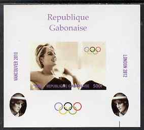 Gabon 2009 Olympic Games - Princess Diana #01 individual imperf deluxe sheet unmounted mint. Note this item is privately produced and is offered purely on its thematic appeal