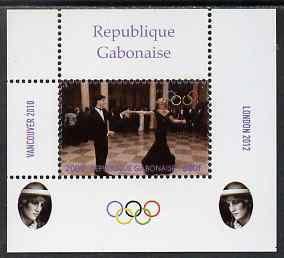 Gabon 2009 Olympic Games - Princess Diana #03 individual perf deluxe sheet unmounted mint. Note this item is privately produced and is offered purely on its thematic appeal