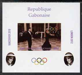 Gabon 2009 Olympic Games - Princess Diana #03 individual imperf deluxe sheet unmounted mint. Note this item is privately produced and is offered purely on its thematic appeal