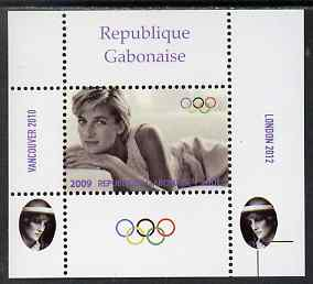 Gabon 2009 Olympic Games - Princess Diana #04 individual perf deluxe sheet unmounted mint. Note this item is privately produced and is offered purely on its thematic appeal