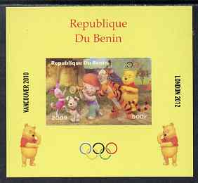 Benin 2009 Olympic Games - Disney's Winnie the Pooh #02 individual imperf deluxe sheet unmounted mint. Note this item is privately produced and is offered purely on its thematic appeal