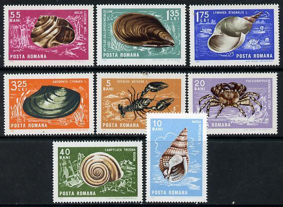 Rumania 1966 Crustaceans & Molluscs set of 8 unmounted mint, SG 3412-19, Mi 2544-52*