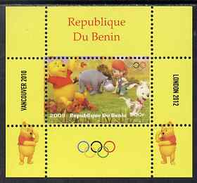 Benin 2009 Olympic Games - Disney's Winnie the Pooh #03 individual perf deluxe sheet unmounted mint. Note this item is privately produced and is offered purely on its thematic appeal