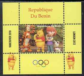 Benin 2009 Olympic Games - Disney's Winnie the Pooh #04 individual perf deluxe sheet unmounted mint. Note this item is privately produced and is offered purely on its thematic appeal