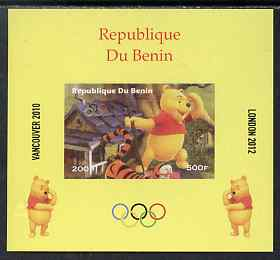 Benin 2009 Olympic Games - Disney's Winnie the Pooh #05 individual imperf deluxe sheet unmounted mint. Note this item is privately produced and is offered purely on its thematic appeal