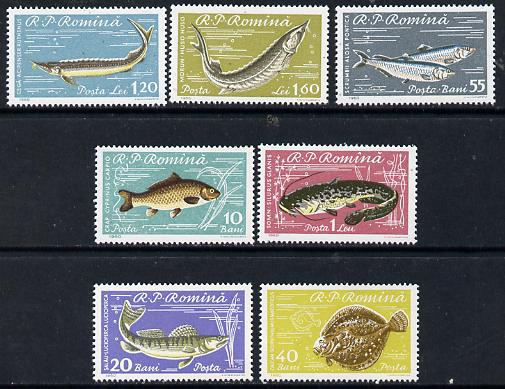 Rumania 1960 Fish perf set of 7 unmounted mint, SG 2796-2802, Mi 1927-33*