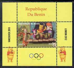 Benin 2009 Olympic Games - Disney's Winnie the Pooh #06 individual perf deluxe sheet unmounted mint. Note this item is privately produced and is offered purely on its thematic appeal, stamps on olympics, stamps on pooh, stamps on bears, stamps on cartoons, stamps on fairy tales, stamps on tigers, stamps on disney, stamps on films, stamps on cinema, stamps on movies