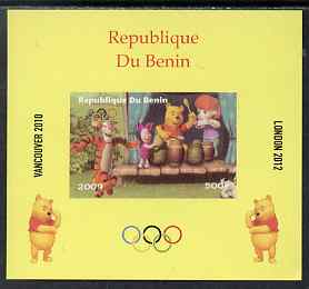 Benin 2009 Olympic Games - Disney's Winnie the Pooh #06 individual imperf deluxe sheet unmounted mint. Note this item is privately produced and is offered purely on its thematic appeal