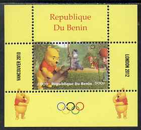 Benin 2009 Olympic Games - Disney's Winnie the Pooh #07 individual perf deluxe sheet unmounted mint. Note this item is privately produced and is offered purely on its thematic appeal