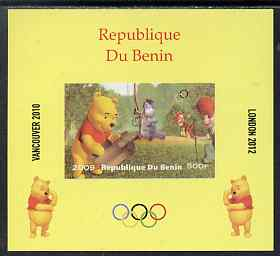 Benin 2009 Olympic Games - Disney's Winnie the Pooh #07 individual imperf deluxe sheet unmounted mint. Note this item is privately produced and is offered purely on its thematic appeal