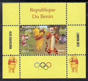 Benin 2009 Olympic Games - Disney's Winnie the Pooh #08 individual perf deluxe sheet unmounted mint. Note this item is privately produced and is offered purely on its thematic appeal