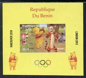 Benin 2009 Olympic Games - Disney's Winnie the Pooh #08 individual imperf deluxe sheet unmounted mint. Note this item is privately produced and is offered purely on its thematic appeal