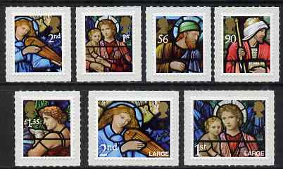 Great Britain 2009 Christmas set of 7 self adhesives unmounted mint