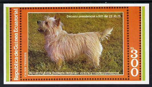 Equatorial Guinea 1978 Dogs (Cairn Terrier) 300ek imperf m/sheet unmounted mint