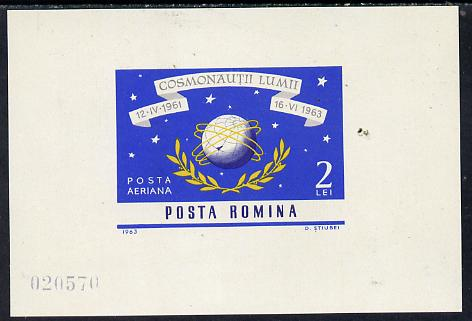 Rumania 1964 Space Navigation IMPERF m/sheet unmounted mint, SG MS 3115, Mi BL 56