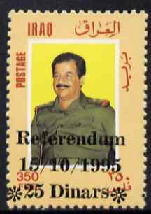 Iraq 1995 Referendum Day 25d on 350f unmounted mint (English opt) SG 1993