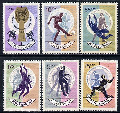 Rumania 1966 Football World Cup set of 6 unmounted mint, SG 3361-66, Mi 2493-98