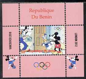 Benin 2009 Olympic Games - Disney Characters #01 individual perf deluxe sheet unmounted mint. Note this item is privately produced and is offered purely on its thematic appeal