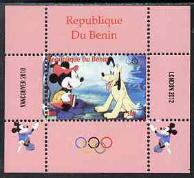 Benin 2009 Olympic Games - Disney Characters #04 individual perf deluxe sheet unmounted mint. Note this item is privately produced and is offered purely on its thematic appeal, stamps on olympics, stamps on cartoons , stamps on disney, stamps on films, stamps on cinema, stamps on movies