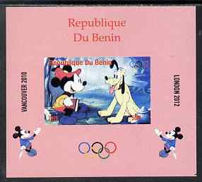 Benin 2009 Olympic Games - Disney Characters #04 individual imperf deluxe sheet unmounted mint. Note this item is privately produced and is offered purely on its thematic appeal