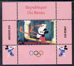 Benin 2009 Olympic Games - Disney Characters #09 individual perf deluxe sheet unmounted mint. Note this item is privately produced and is offered purely on its thematic appeal