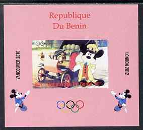 Benin 2009 Olympic Games - Disney Characters #10 individual imperf deluxe sheet unmounted mint. Note this item is privately produced and is offered purely on its thematic appeal