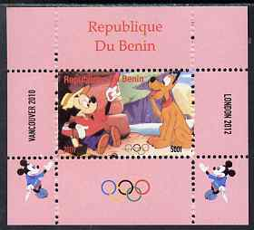 Benin 2009 Olympic Games - Disney Characters #11 individual perf deluxe sheet unmounted mint. Note this item is privately produced and is offered purely on its thematic appeal