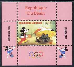 Benin 2009 Olympic Games - Disney Characters #12 individual perf deluxe sheet unmounted mint. Note this item is privately produced and is offered purely on its thematic appeal