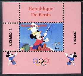 Benin 2009 Olympic Games - Disney Characters #13 individual perf deluxe sheet unmounted mint. Note this item is privately produced and is offered purely on its thematic appeal