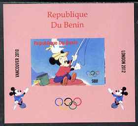 Benin 2009 Olympic Games - Disney Characters #13 individual imperf deluxe sheet unmounted mint. Note this item is privately produced and is offered purely on its thematic appeal